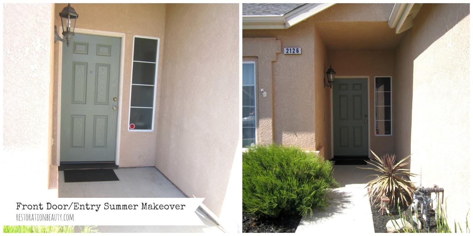 Restoration Beauty: Front Door/Entry Summer Makeover {Summer ...