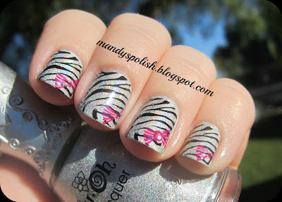NFU-OH NFU61 Zebra Mani with Konad M57 and Bundle Monster BM317