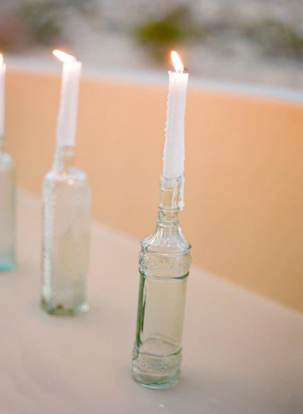 Oh mywedding ideas para decorar vuestra boda con velas - Botellas con velas ...