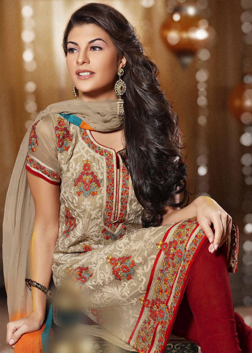 Kajal hd in modern dress - Jacqueline Actress Jacqueline Fernandez Latest Salwar Kameez Stills