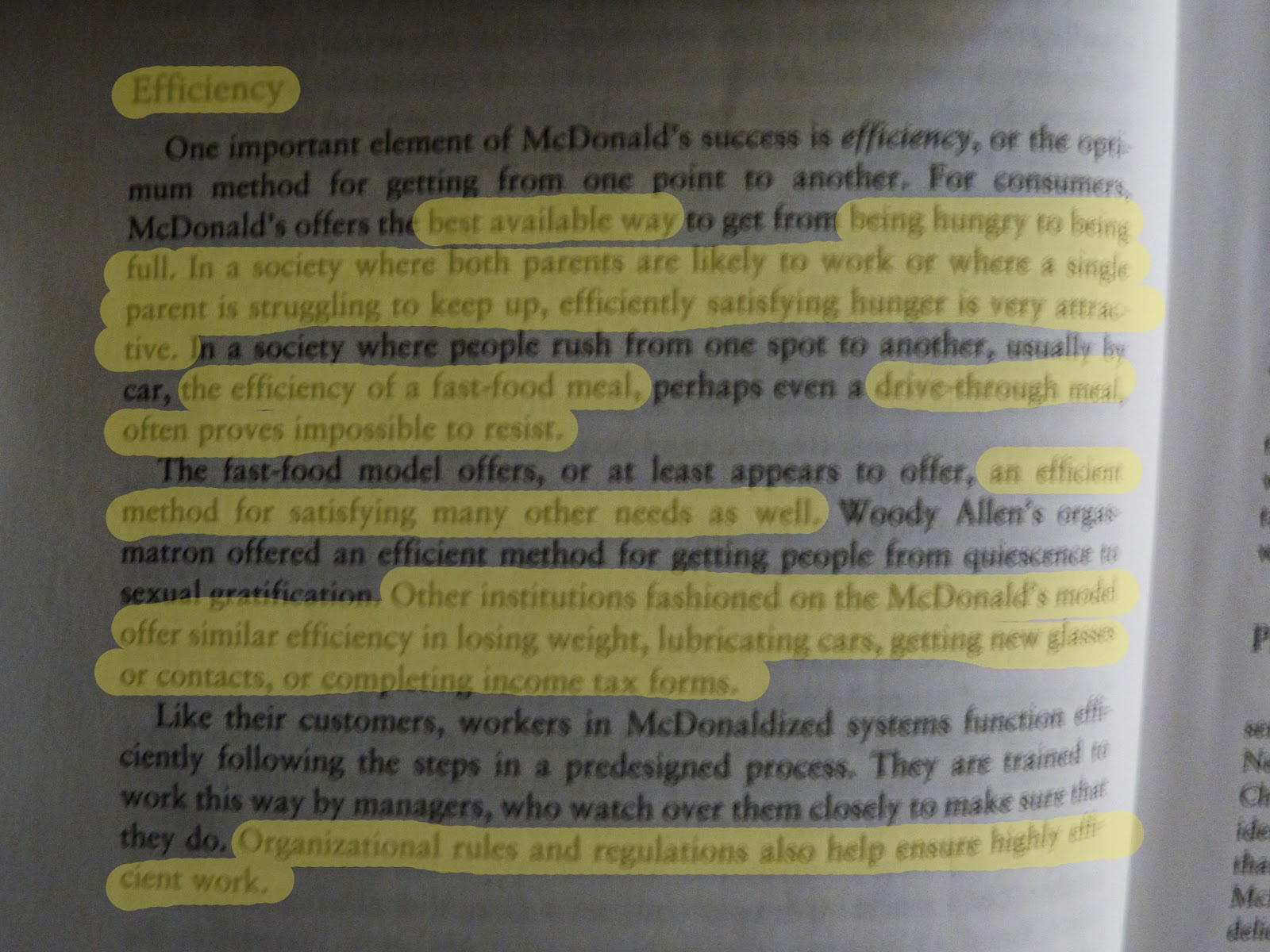 understandig the process of mcdonaldization Gathering an understanding of foundational  or process of applying  naturally tends towards the mcdonaldization of christian philosophy.