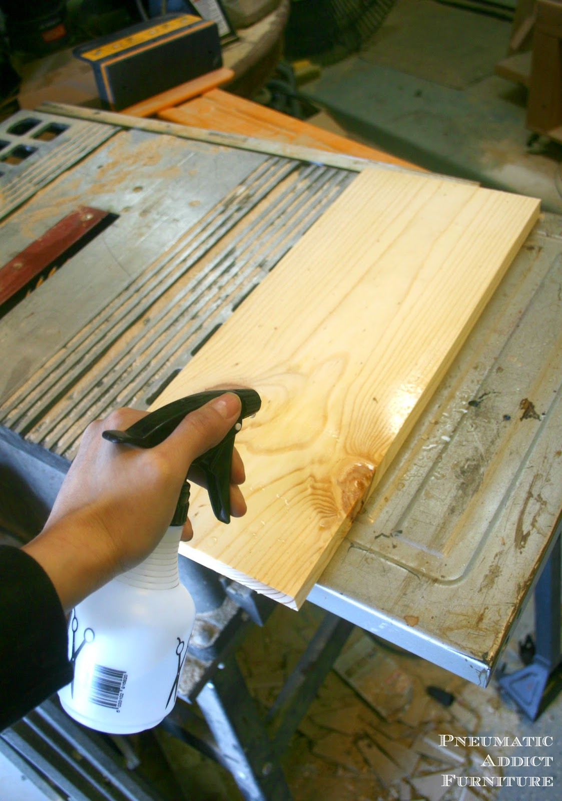 Pneumatic Addict : How to Get a Textured, Raised Grain on Wood Raising Grain