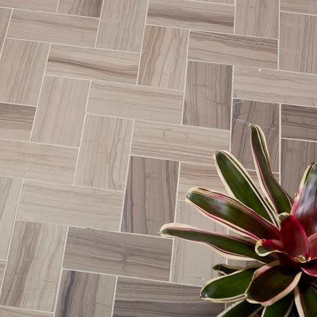 Design Possibilities Dark Herringbone Tile Pattern For Living Room