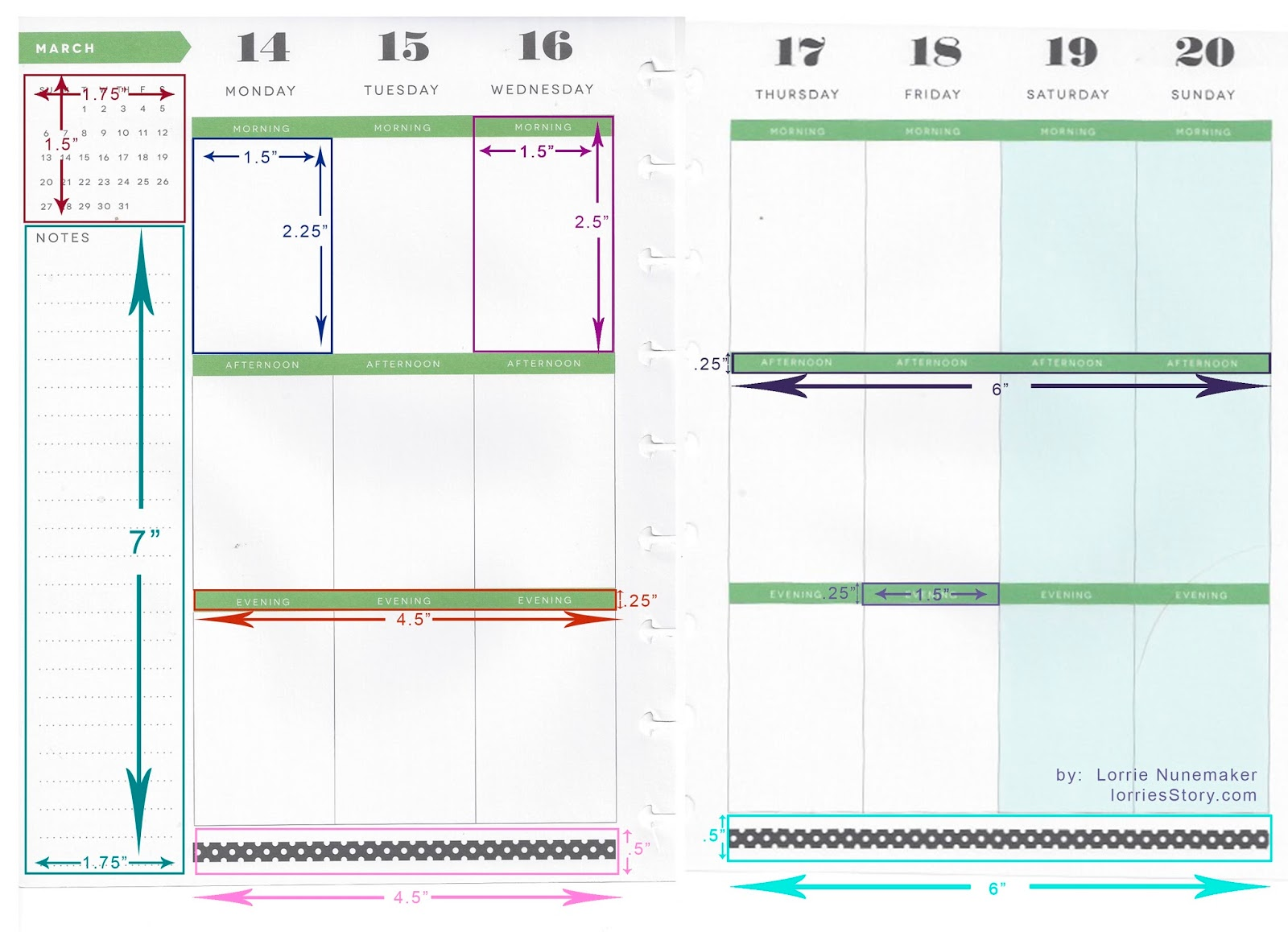 Labels: Dimensions , Happy Planner , Planner , Printable