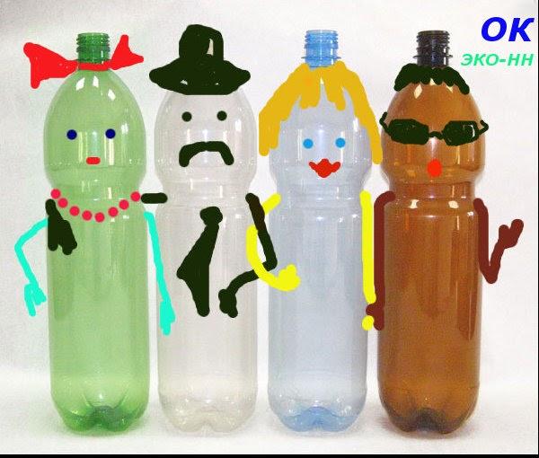 Простые детские поделки из бутылки