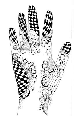 Henna Hand Designs On Paper
