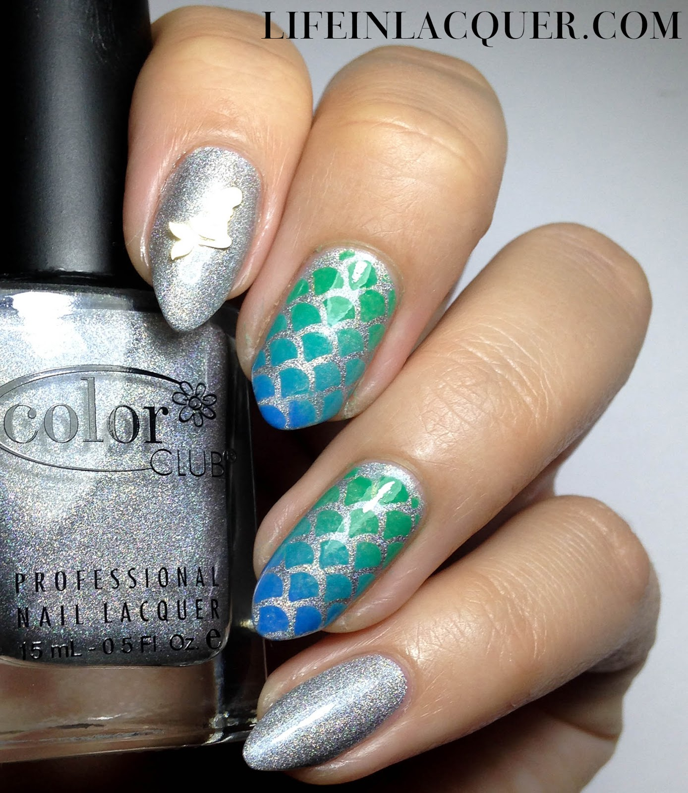Life in lacquer fish scales nail art and tutorial fish scale nail art prinsesfo Choice Image