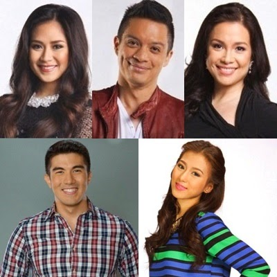 The Voice Kids hosts: Luis Manzan and Alex Gonzaga with returning coaches Sarah Geronimo, Bamboo Manalac and Lea Salonga