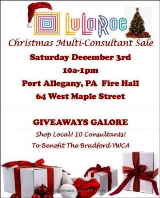 12-3 LuLaRoe Christmas Sale, Port Allegany VFD