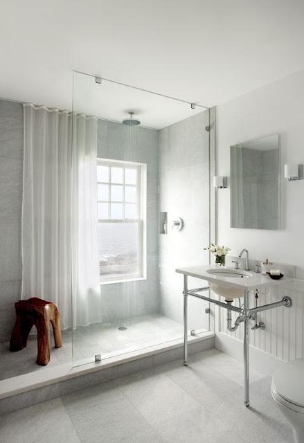 Guida tende tenda leggera per il bagno moderno - Tende da bagno moderne ...