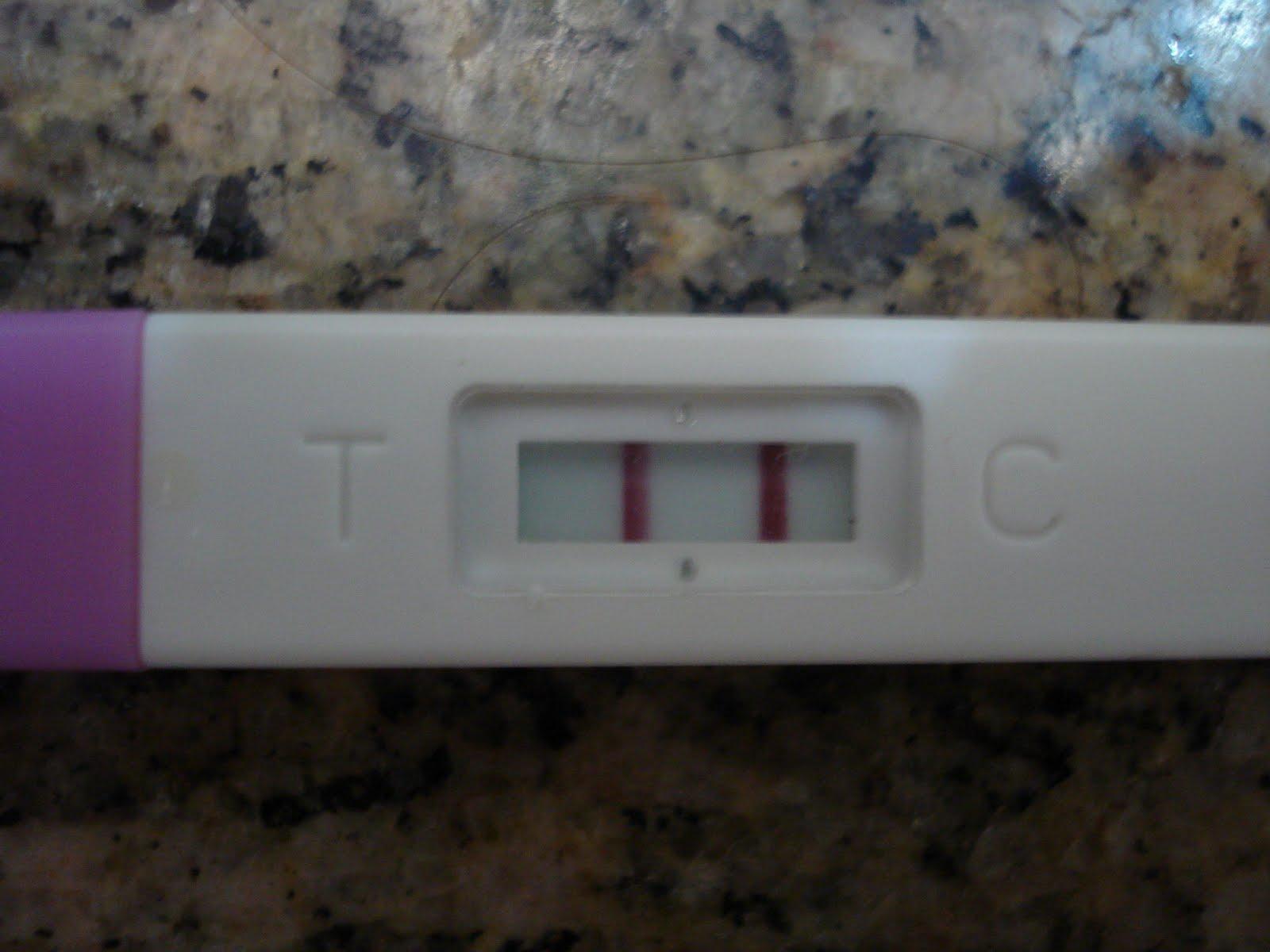 Fotos de exame de gravidez positivo
