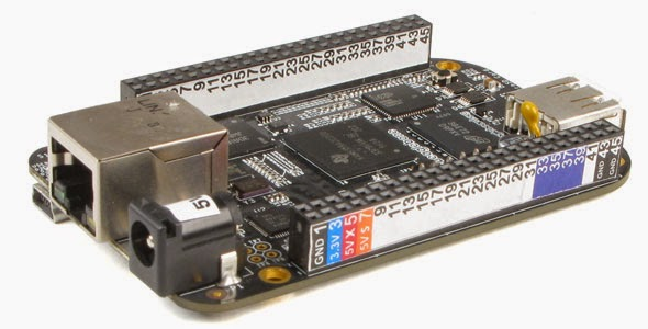 BeagleBone Black with Pin Header Label