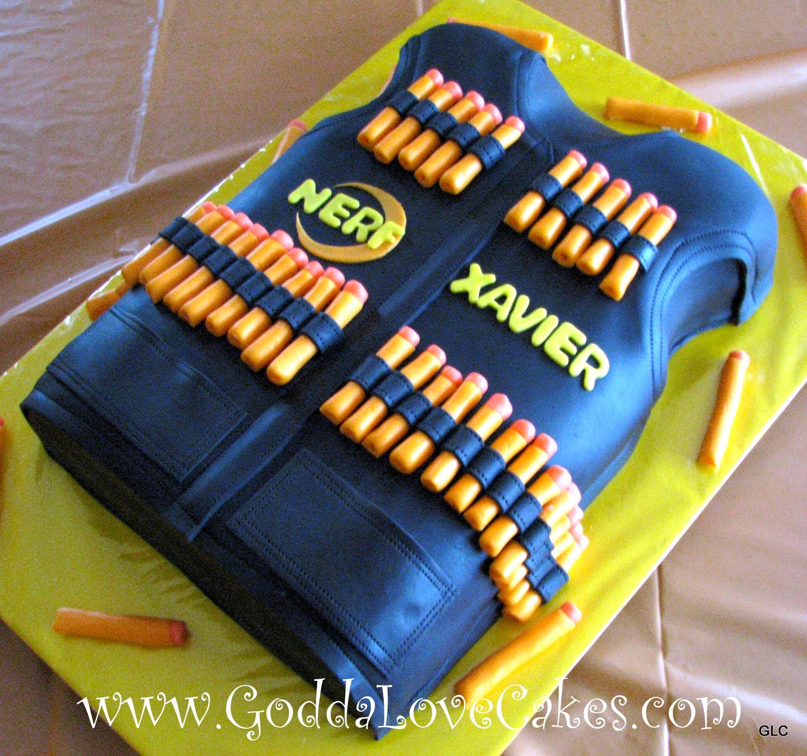 Nerf Birthday Cake Photos