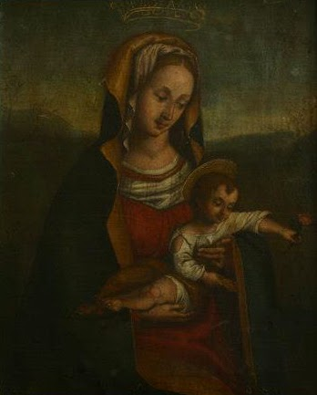 Vierge à l'enfant avant restauration