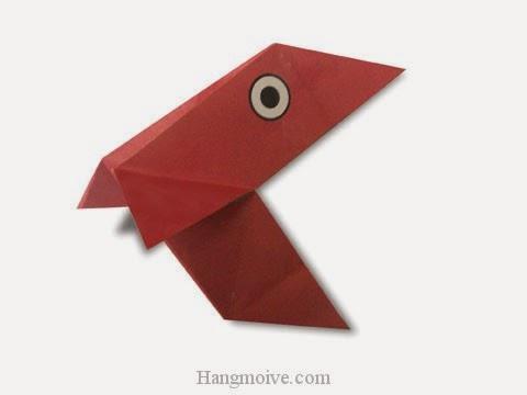Cách gấp, xếp con chim đòi ăn bằng giấy origami - Video hướng dẫn xếp hình - How to make a Pakun