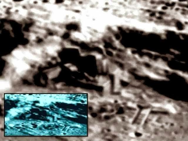 Foto que mostra a base na lua descoberta pelos chineses segundo Michael Salla.