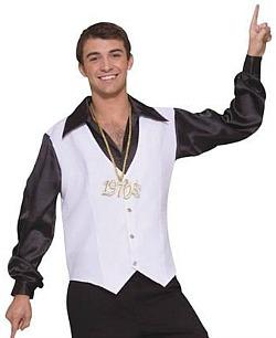 satin disco shirt