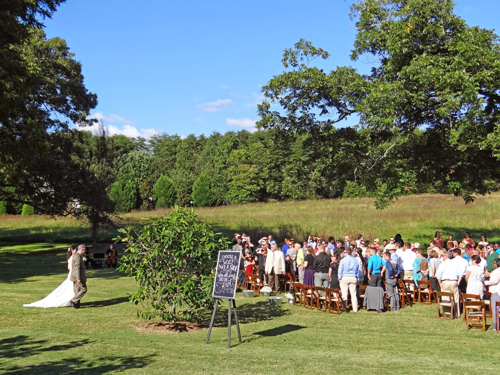 outdoor wedding ceremony upstate SC