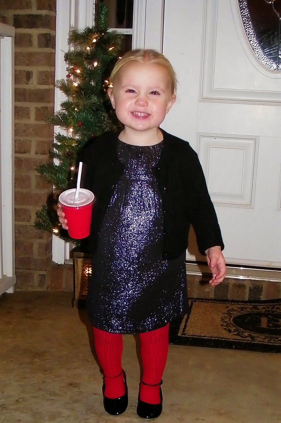 Preslie ready for her 1st Christmas program