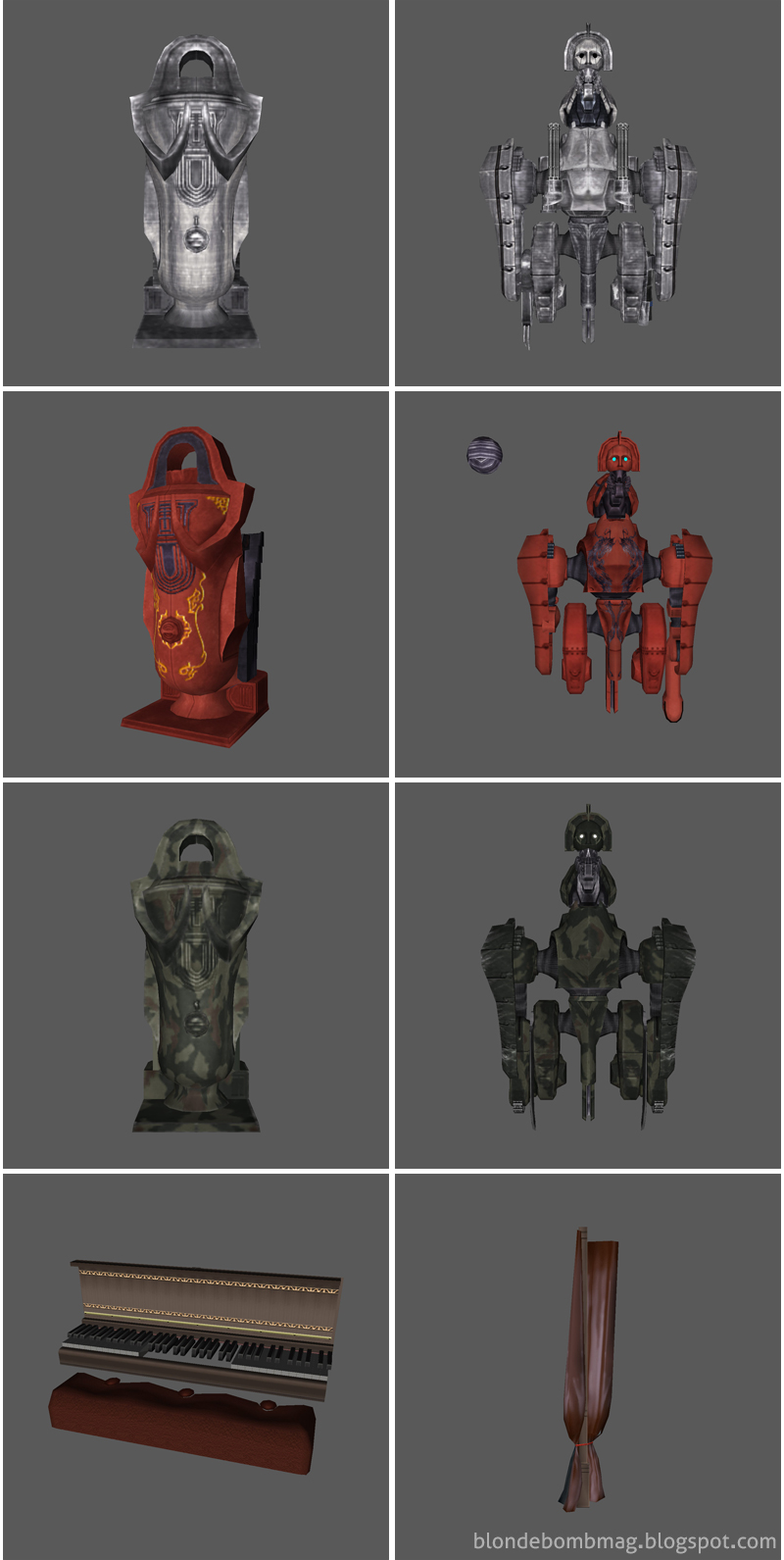 Death by Degrees 3D Model Art Assets