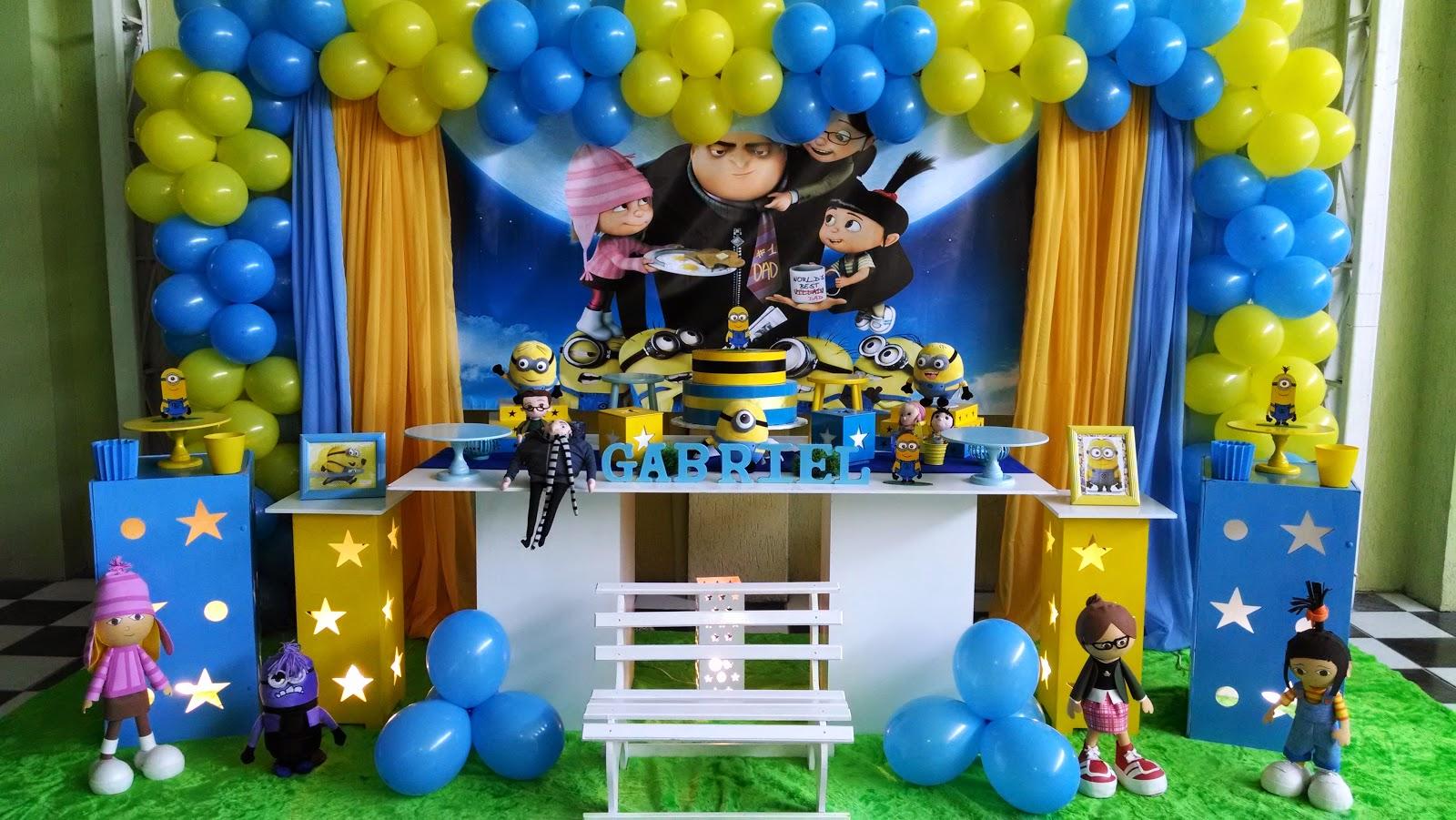decoracao festa minions : decoracao festa minions: provençal festa infantil: Decoração Minions Meu Malvado Favorito