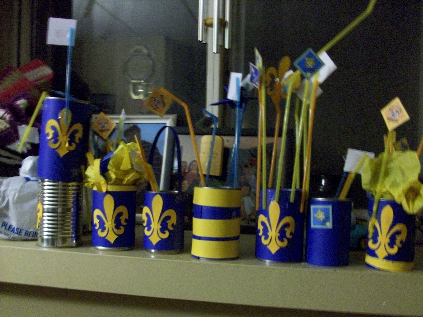Blue And Gold Centerpiece : Cub scouts blue gold banquet ideas on pinterest party