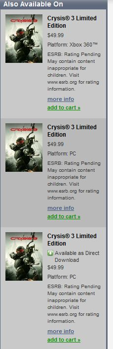 Crysis 3 on origin