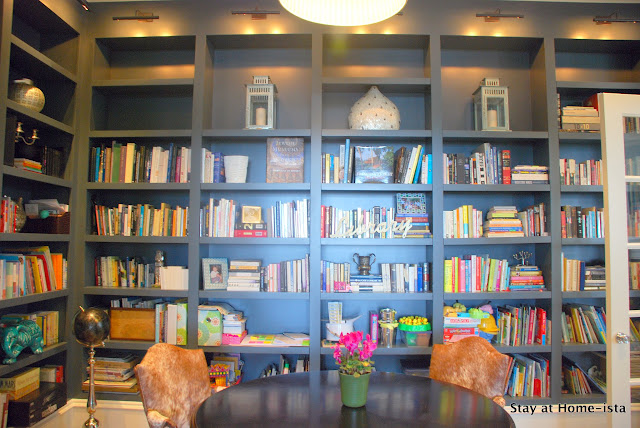 built in library bookshelves
