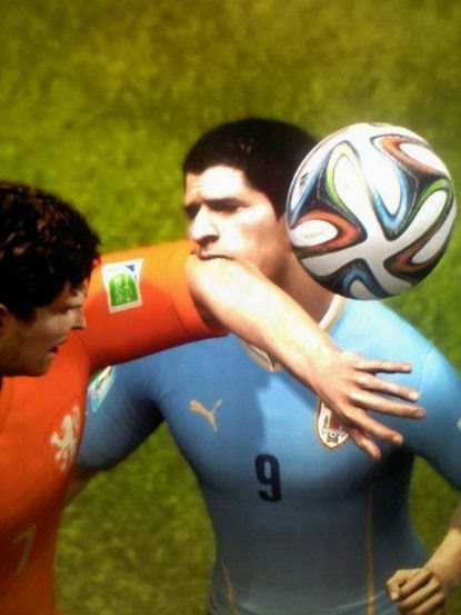 Turn off the player Luis Suarez after the famous bite in FIFA 15!