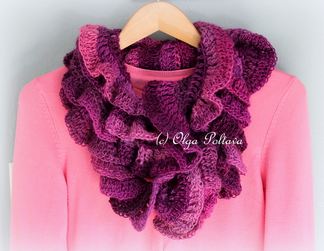 Lacy crochet petunia ruffled scarf the pattern which is very easy is available in my etsy shop dt1010fo