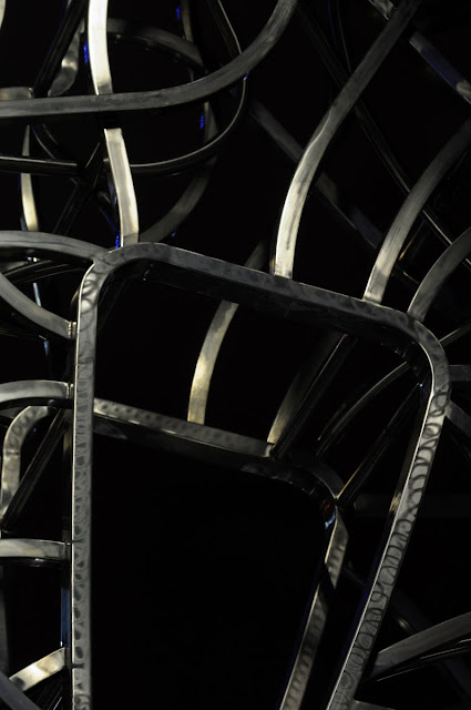 abstract abstraction art sculpture public art melbourne australia tim macauley the travellers bridge steel nadim karam