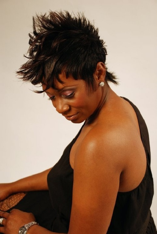 Spikey Hairstyles for Black Women 2013