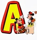 Selección de alfabetos de Minnie y Mickey.
