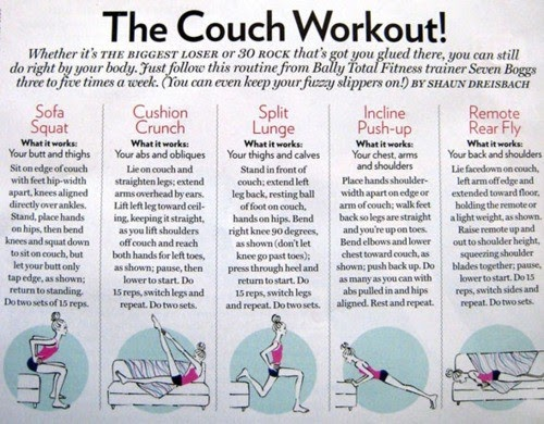 Health And Fitness The Couch Workout