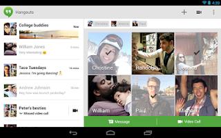 screen shot Hangouts Apk, Aplikasi Chatting dan Video Call dari Google+