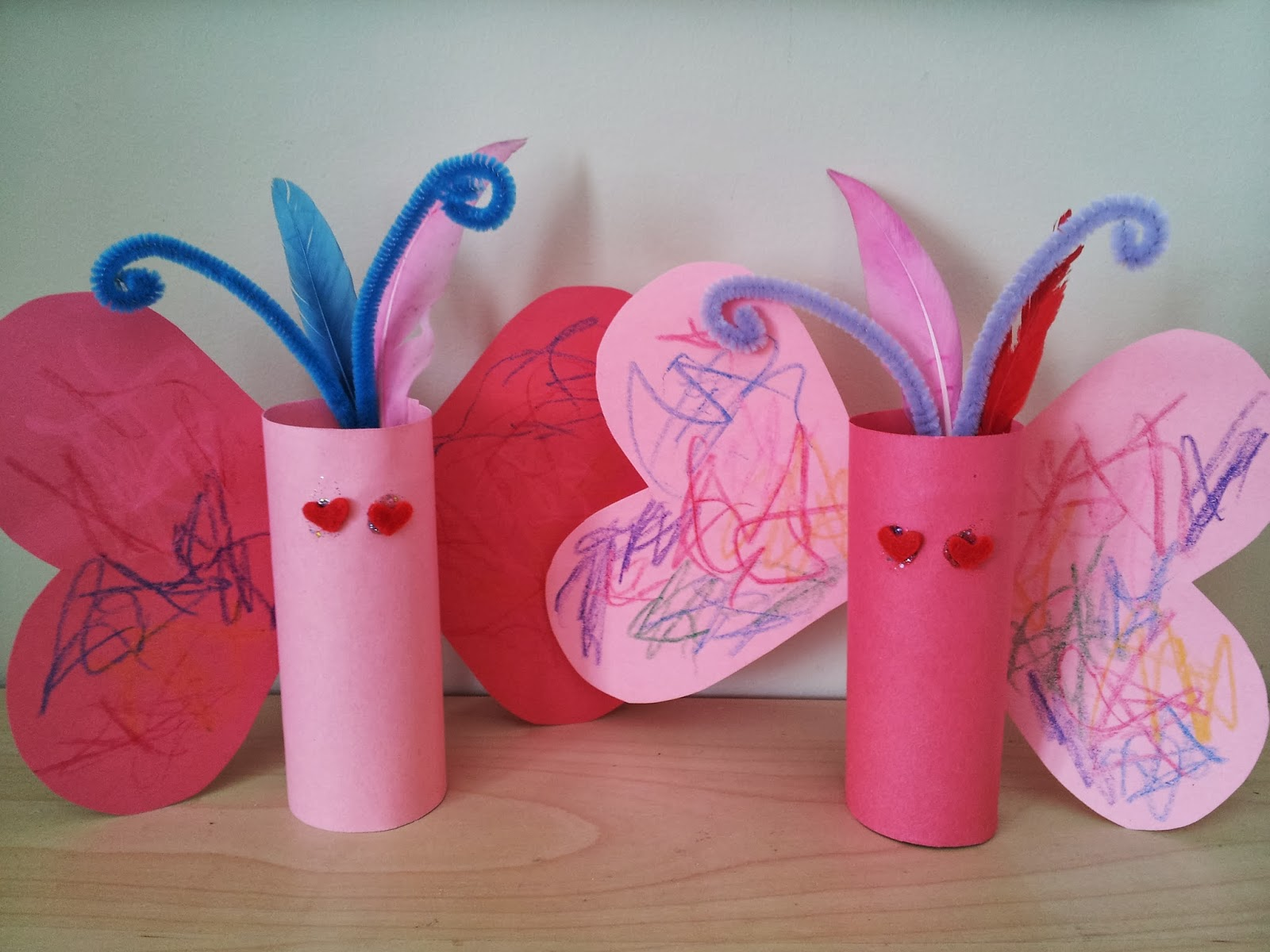 Valentine love bug craft - Toilet Roll Love Bugs Craft Kids Crafts Valentine S Day Craft