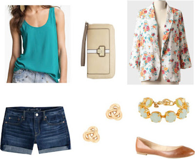 Style remix: tanks and jean shorts
