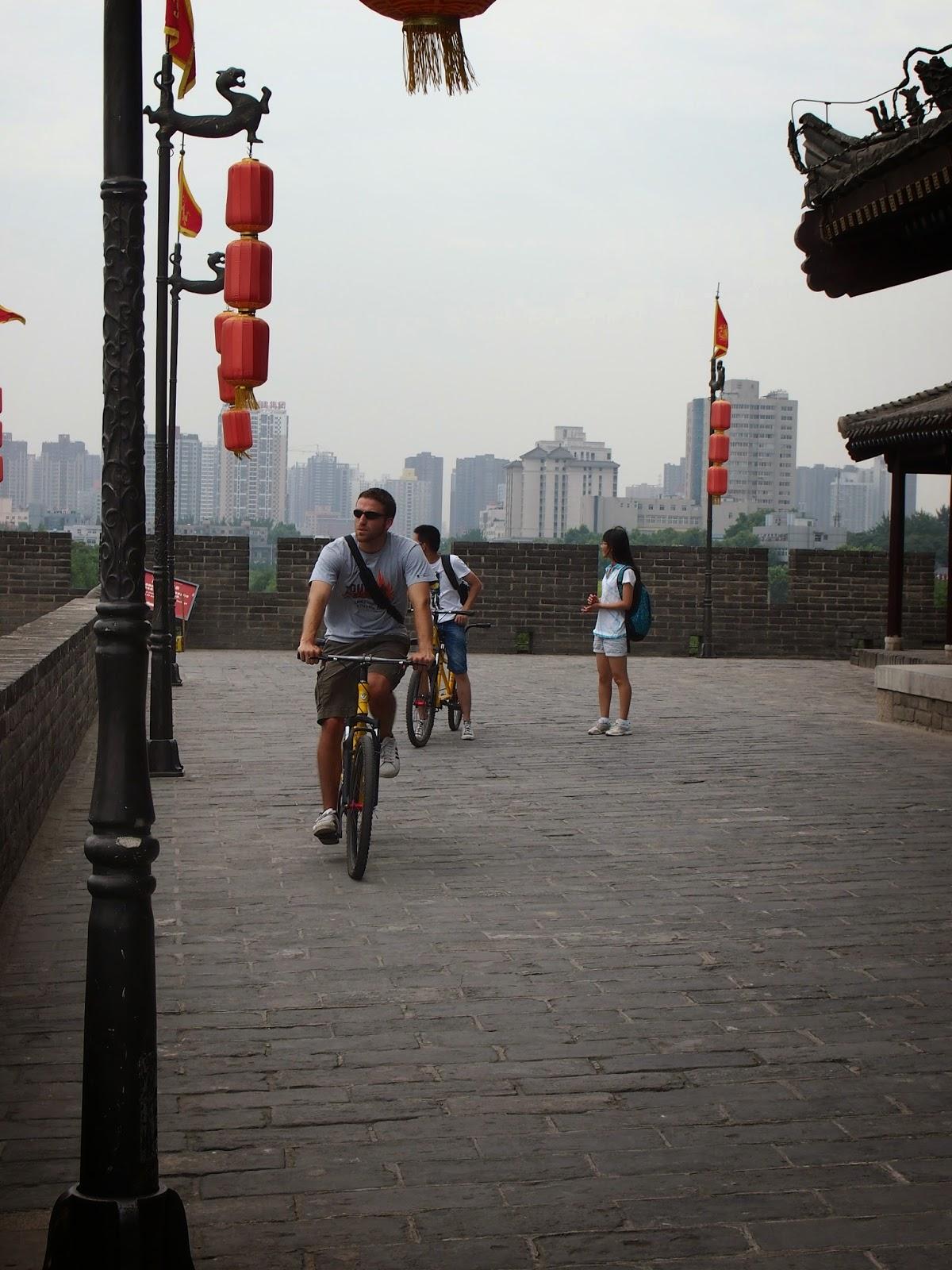 Biking the Xi'an City Wall