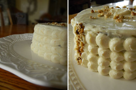Carrot Cake with Modern Piping