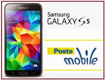 poste mobile, prezzo galaxy s5