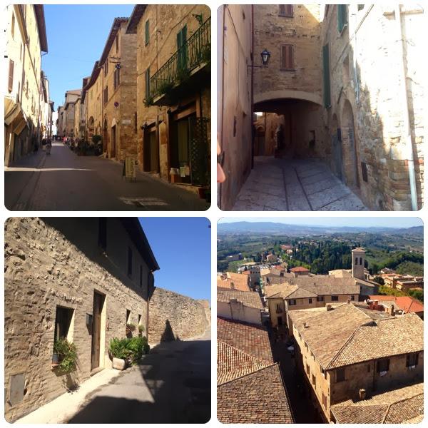Collage de la ciudad de montefalco