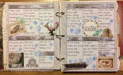 January Planner Pages by Lynn Shokoples for BoBunny featuring the Calendar Girl and Whiteout Collections.