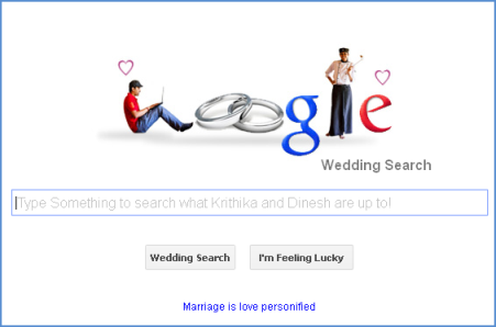 A Creative Wedding Invitation like Google Website