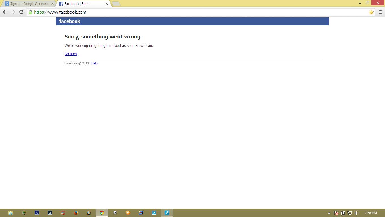 Facebook Error 19 Juni 2014