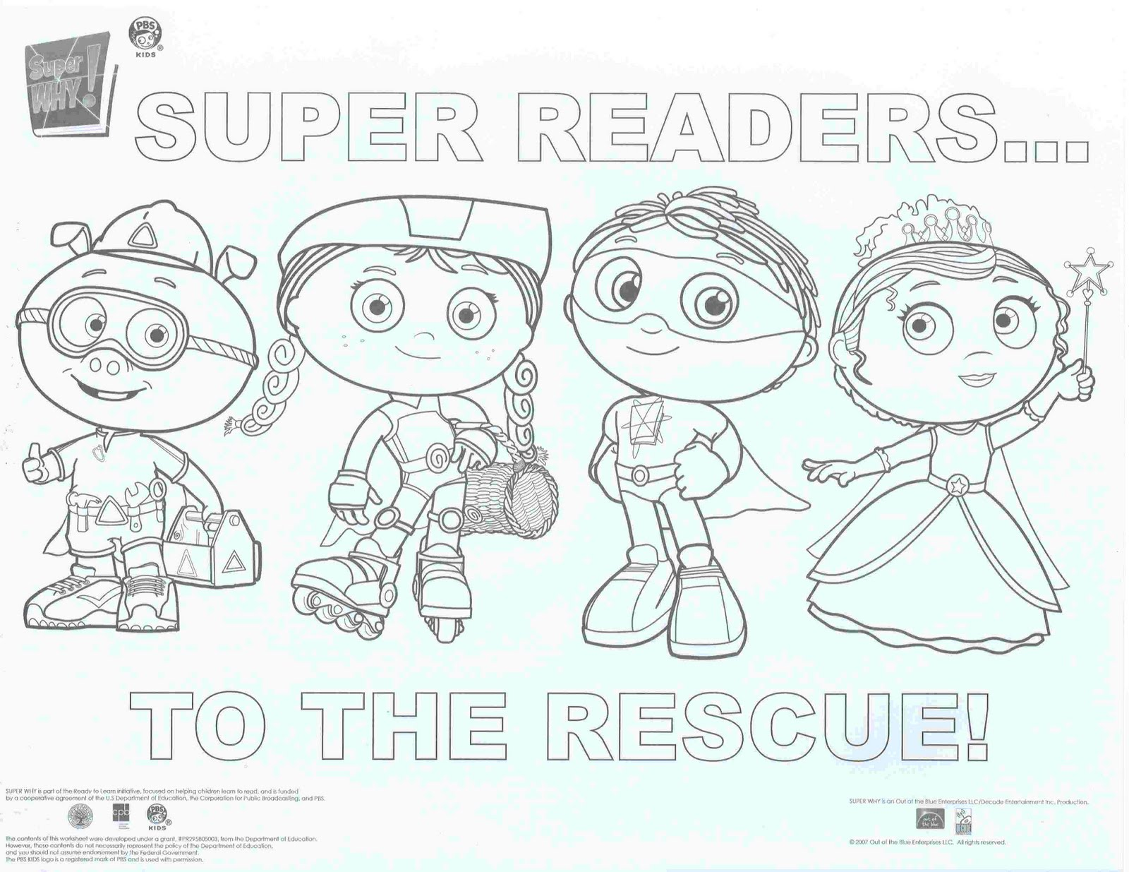 super why printable coloring pages - photo#3