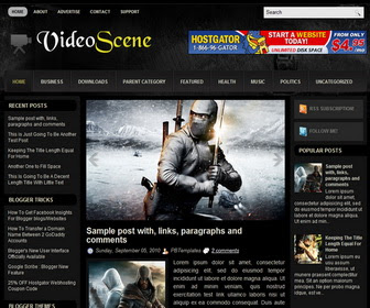 VideoScene Blogger Template