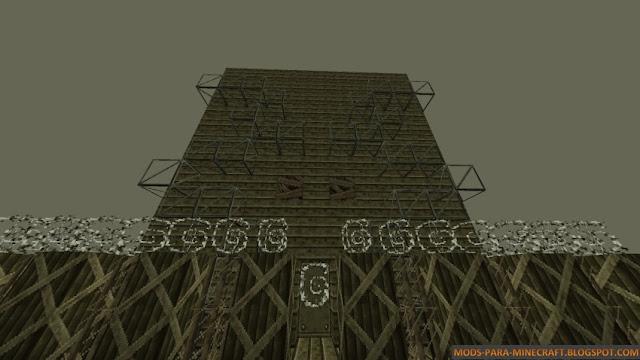 Estructura de fábrica luego del apocalipsis con el resource pack TimeZone