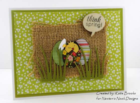 Easter card by Katie Brooks for Newton's Nook Designs - Easter Scramble Stamp set