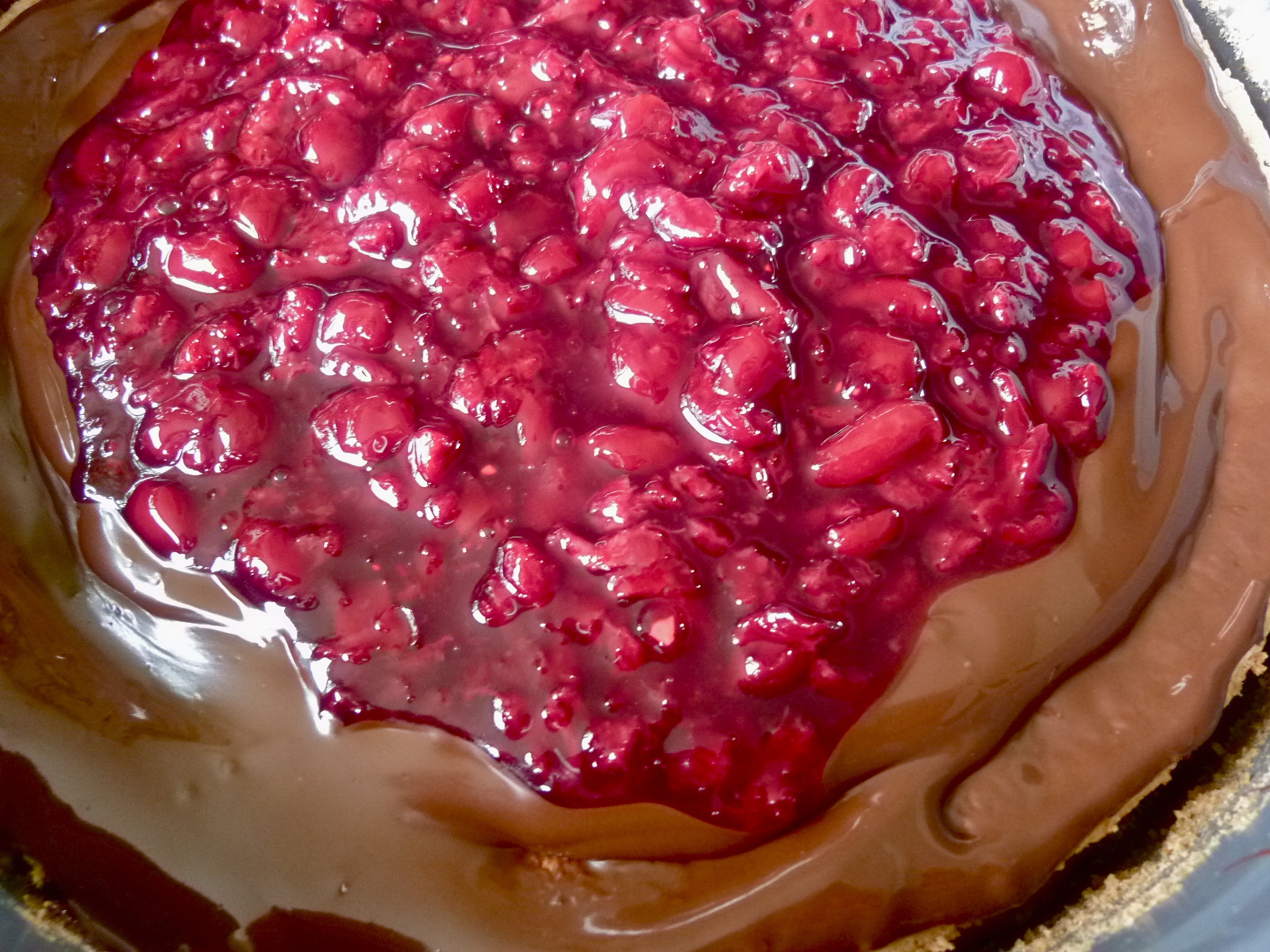 Diary of a Mad Hausfrau: Sour Cherry Chocolate Hazelnut Torte