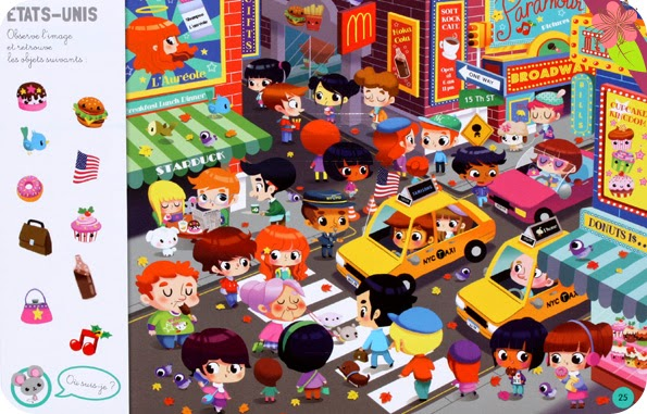 Cherche et trouve autour du monde, Illustrations de Mélisande Luthringer, Paku et Charlie Pop